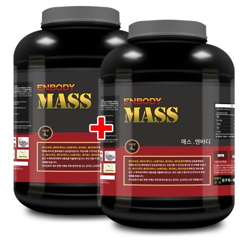 매스 엔바디 4kg x 2 탄수화물/살찌기 도움