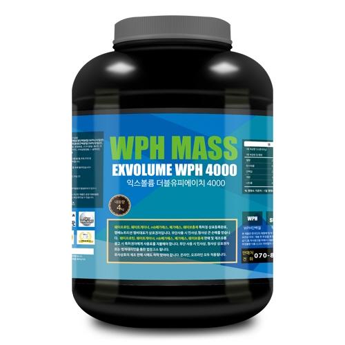 익스볼륨 WPH 매스 4000 (4kg) 탄수화물/살찌기 도움