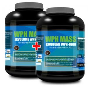 익스볼륨 WPH 매스 4000 (4kg x 2) 탄수화물/살찌기 도움