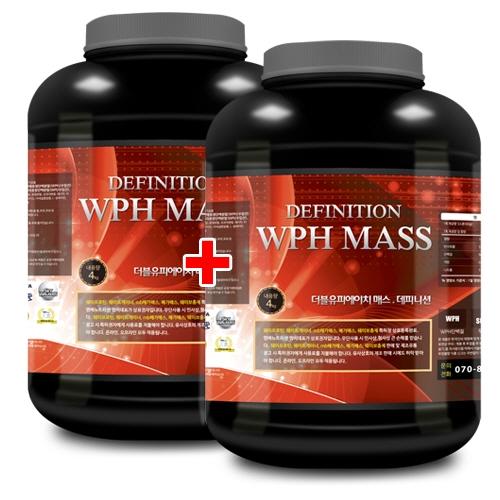 WPH 매스 데피니션 4kg x 2 탄수화물/살찌기 도움