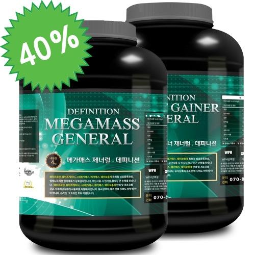 웨이트게이너 데피니션4kg + 메가매스 데피니션4kg 40%DC
